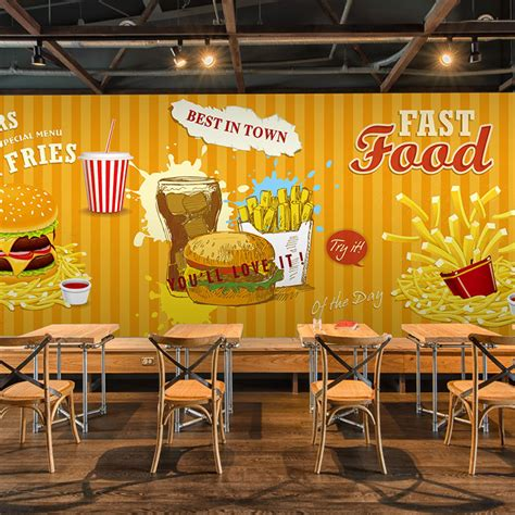 What Time Does Mcdonalds Dining Room Open by 3d Photo Wallpaper Fast Food Hamburger Fries