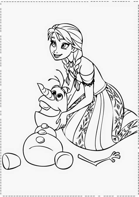 free coloring pages of anna