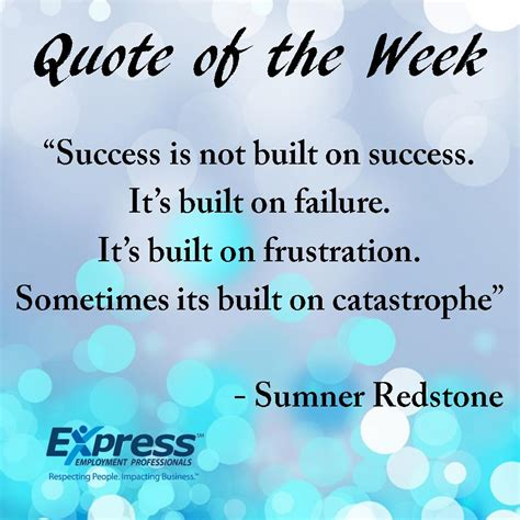Quote Of The Week by Express Quote Of The Week Express Employment