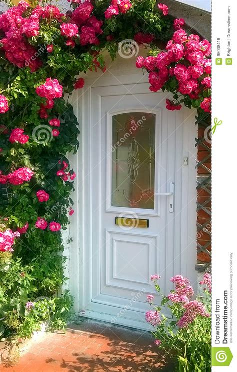 roses   door stock photo image  decorative
