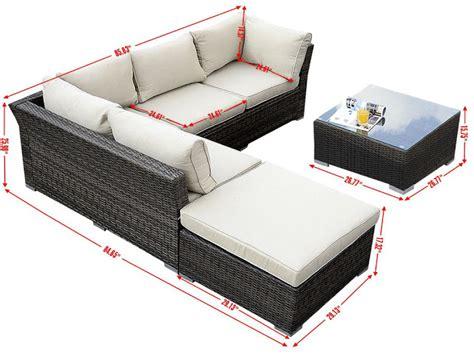 giantex 6pc patio sectional furniture pe wicker rattan