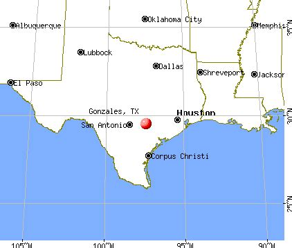 gonzales map gonzales tx 78629 profile population maps real