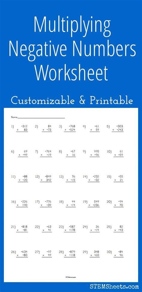 printable math worksheets negative numbers math worksheets multiplying negative numbers good adding