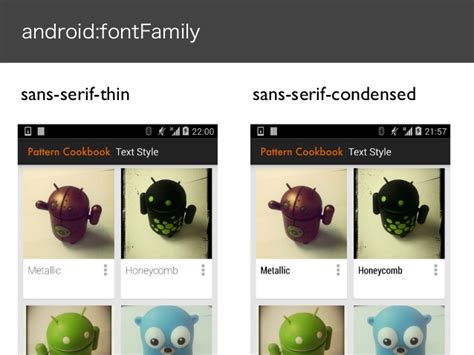 android fontfamily android pattern cookbook で見るトレンドの変遷