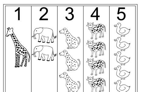 printable numbers with animals tracing numbers 1 5 printable loving printable