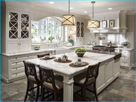 kitchen islands designs with seating 3 kitchen designs with island for spacious kitchens blogbeen