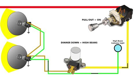 dual headlight wiring headlight relay wiring diagram