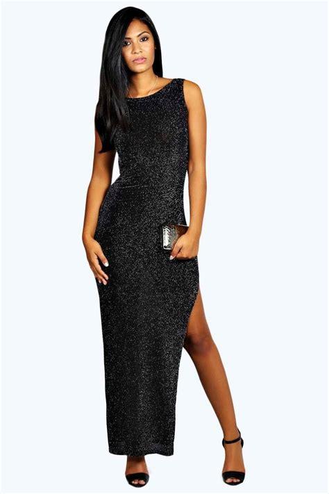 Glitter Dress becki glitter maxi dress at boohoo