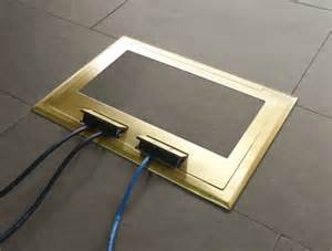electrical floor box for hardwood floor supplied by