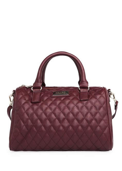 Mango Bowling Bag S mango touch quilted bowling bag in purple 52 lyst