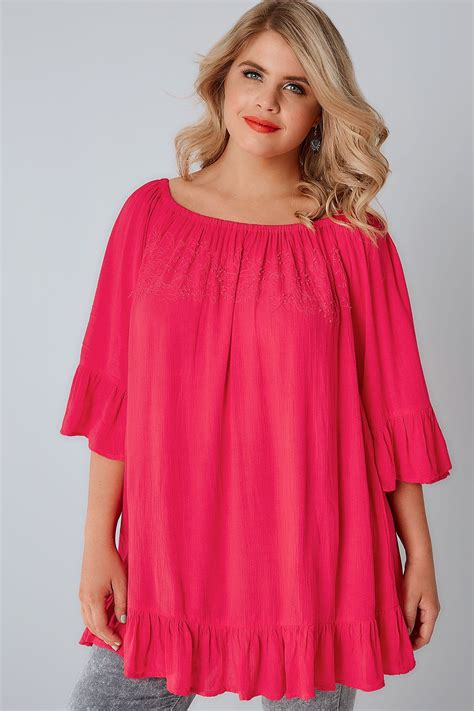 pink beaded top pink bardot top with beaded details flute sleeves