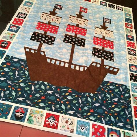 pattern for a pirate ship making a pirate ship quilt from the new makower pirates