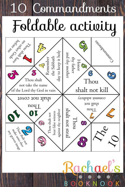 10 commandments crafts for primary 6 lesson 21 10 commandments foldable rachael s
