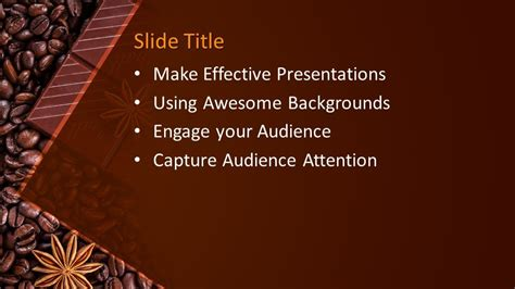 chocolate grains powerpoint template  powerpoint templates