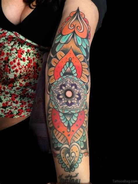 color mandala tattoo 72 great classic mandala tattoos for arm