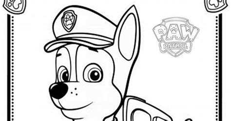coloring pages of chase from paw patrol chase paw patrol free coloring pages