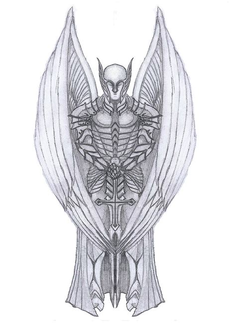 angel michael tattoo designs archangel michael by dpwright on deviantart