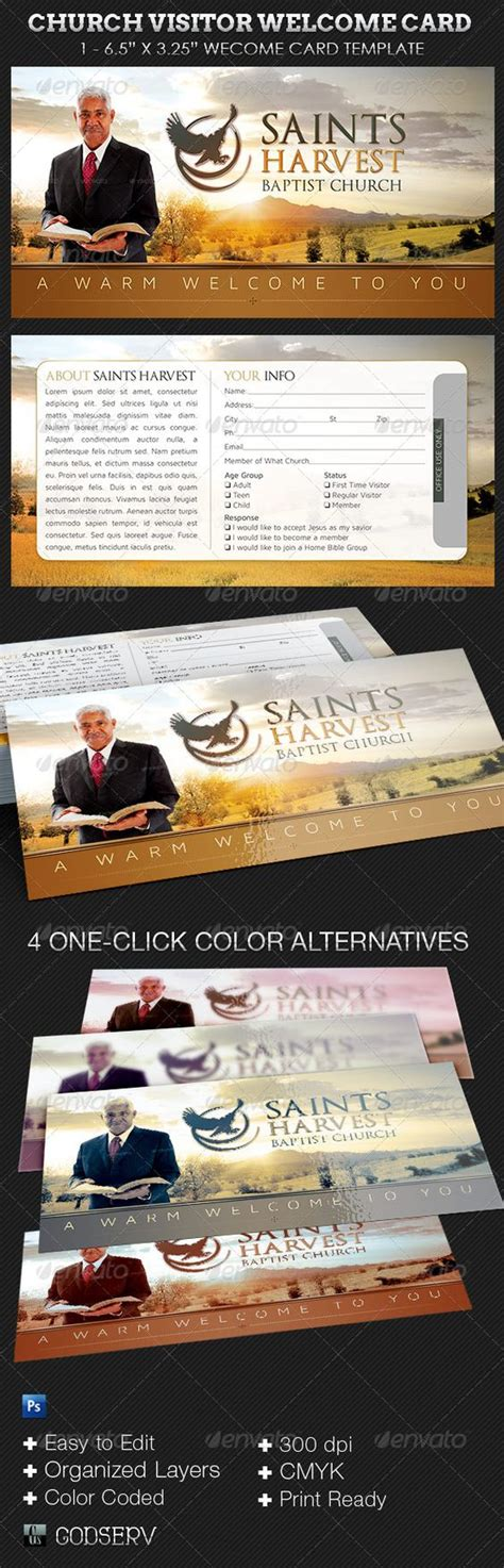simple church connection card word template church visitor welcome card template other church and