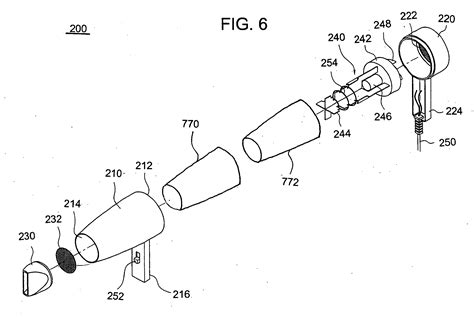Hair Dryer Assembly patent us20050108890 hair dryer patents