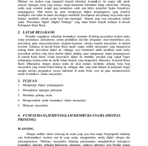 panduan membuat business plan contoh business plan lengkap pdf wellington river