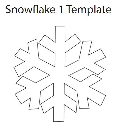 search results for simple snowflake patterns to cut out