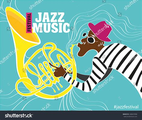 poster design notes jazz music festival poster background template stock