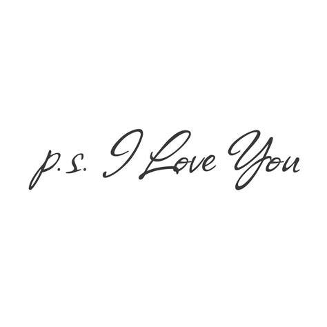 Sticker Wallpaper I Loved You wall quotes wall decals p s i you vinyl