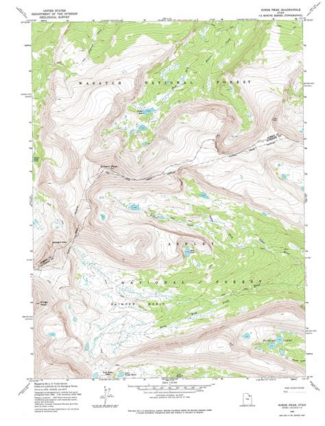 topographical map of utah peak topographic map ut usgs topo 40110g3