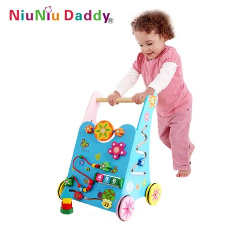 baby toys for baby toys wooden toddler stroller children multipurpose push car baby walkers block