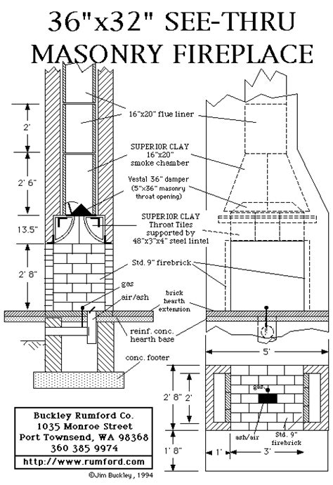 Fireplace Plans by Multi Sided Fireplace Plans