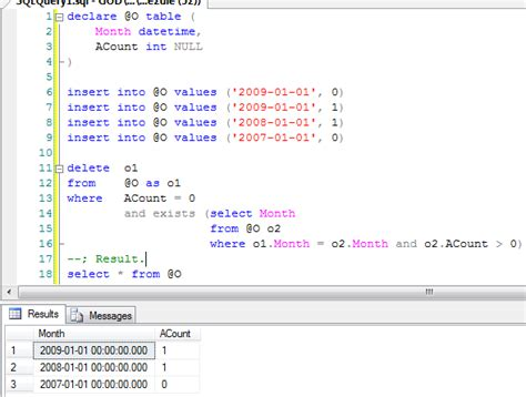 T Sql Table Variable by Sql Table Variables With An Alias In A Delete From