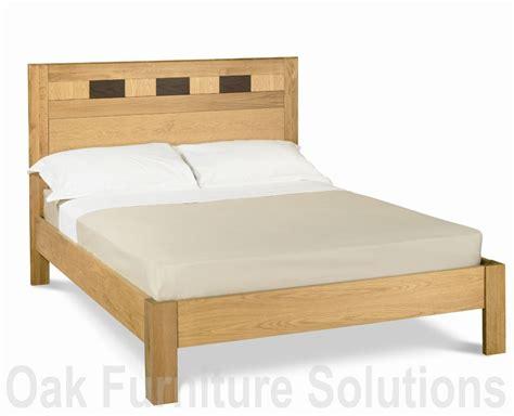 Caravelle Furniture by Caravelle Oak Walnut Bedstead 150cm Oak Furniture Solutions