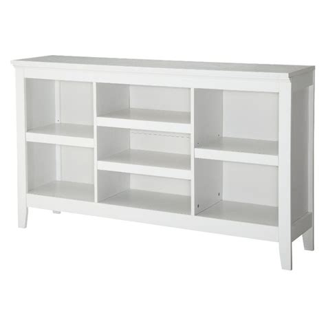 Horizontal Bookcase White Threshold Carson Horizontal Bookcase With Adjustable