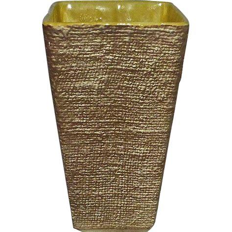Shawnee Pottery Vase by Shawnee Pottery Ceramic Burlap Textured Vase From