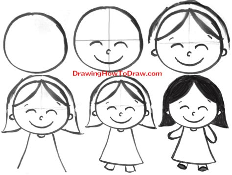 Easy Kid Drawings Step By Step by How To Draw With Easy Steps Tutorial For