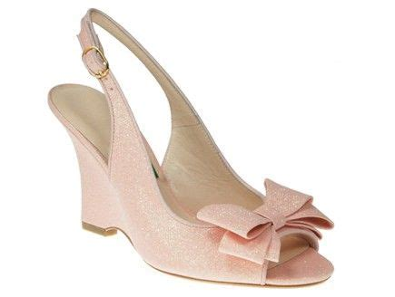 Blush Wedge Wedding Shoes by 18 Best Ribbon Embellished Wedding Invitations Images On