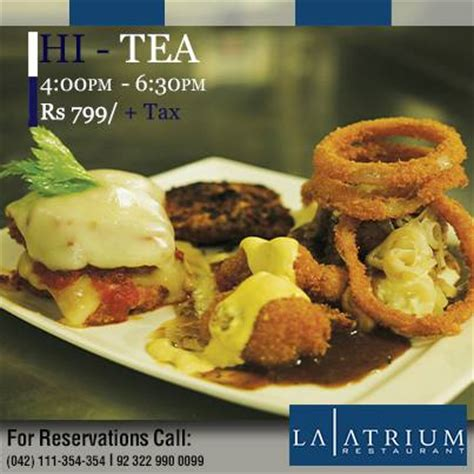 A Tastetea Reminder And Free Tea Offer by La Atrium Lahore Offer Hi Tea In Rs 799 Tax