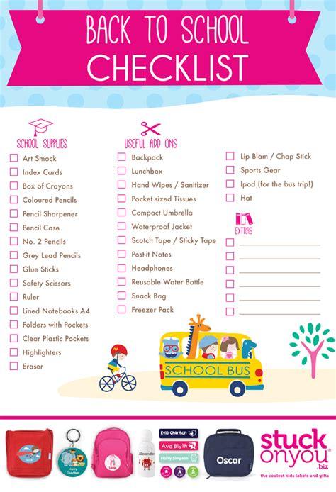 printable to do list for school back to school checklist free printable