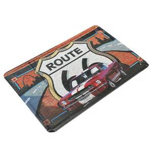 Route 66 Home Decor by Route 66 Car Tin Sign Vintage Metal Plaque Poster Bar Home