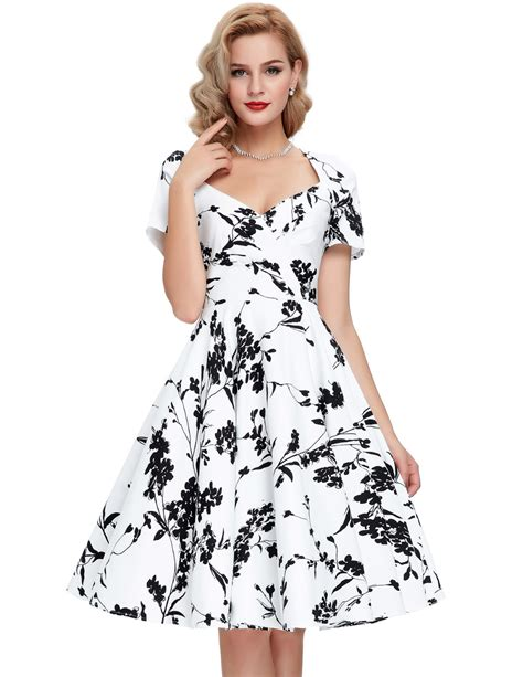 Summer Retro Dress 42553 new 60s swing pinup dresses 2016 summer casual retro robe 50 vintage dress plus size cheap