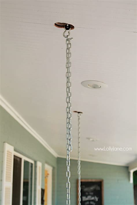 hanging swing from ceiling tips to hang a porch swing lolly jane
