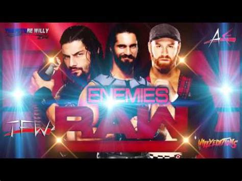 theme song raw wwe raw new theme song enemies ae arena effects