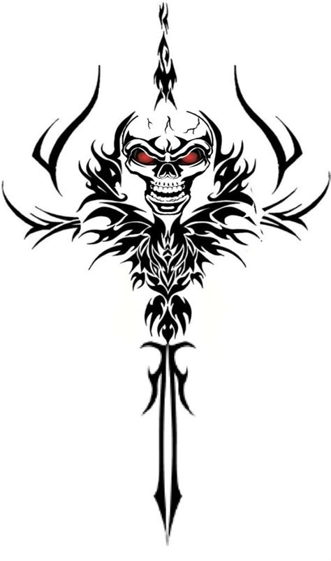 tribal skull tattoo images tribal tattoos and designs page 80