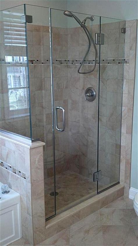 hinged frameless shower door hinged shower door 000 aston nautis 44in x 72in