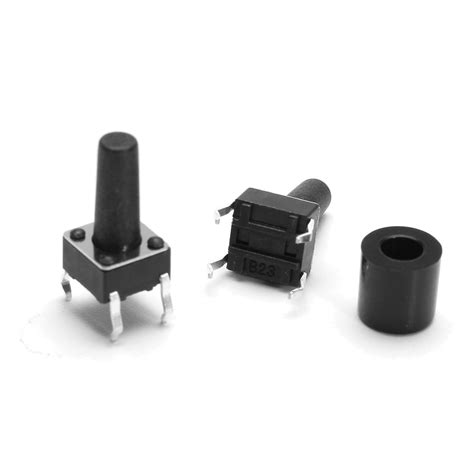 Tactile Button 43mm Push On 20pcs 6x6x12mm momentary 4pin push button micro tactile tact switch w cap alex nld