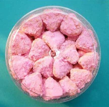 Sendok Teh Hati resep kue salju strawberry bentuk hati resepkoki co