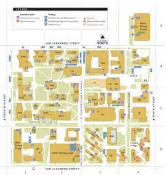 San Jose State Map by Main Campus Map San Jose State University