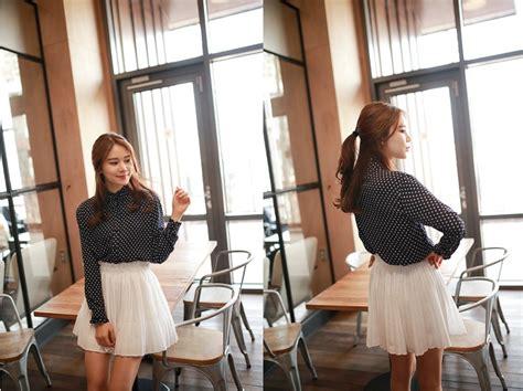 rok korea putih cantik model terbaru jual murah