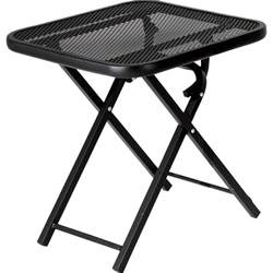 Folding Outdoor Side Table Garden Oasis Wrought Iron Folding Patio Table Limited Availability Shop Your Way