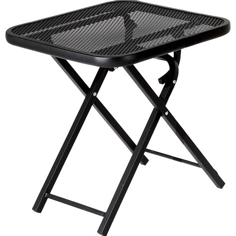 Black Wrought Iron Patio Table Black Metal Steel Garden Oasis Wrought Iron Limited Availability Outdoor Folding Patio Side